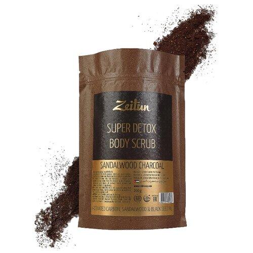 Zeitun Сухой скраб для тела супер-детокс Сандаловый уголь 200 гСкрабы и пилинги<br>