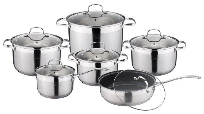 Набор посуды 12 пр. из нержавеющей стали Rainstahl 1222-12RS/CW