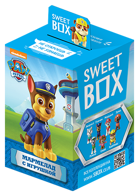 Мармелад с игрушкой Sweet BOX Щенячий патруль, 10г