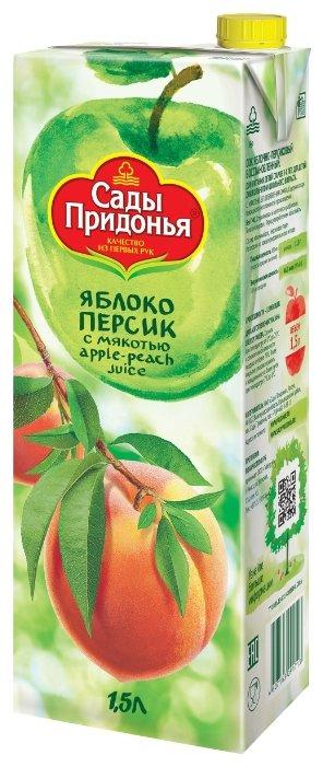 Сок Сады Придонья Яблоко-Персик, с крышкой, без сахара