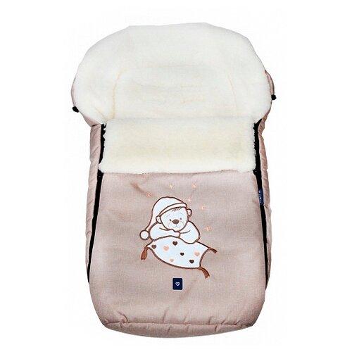 Купить Конверт-мешок Womar S77 Exlusive Bear melange fabric в коляску 95 см бежевый, Конверты и спальные мешки