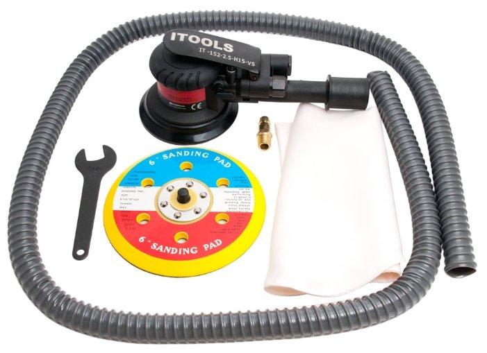Эксцентриковая пневмошлифмашина ITOOLS IT-152-2,5-H15-VS