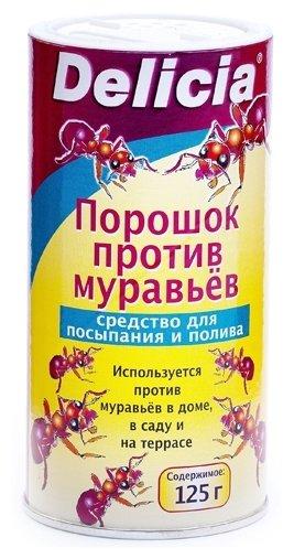 Delicia Активная пищевая гранулированная приманка для муравьев в виде порошка 125 г