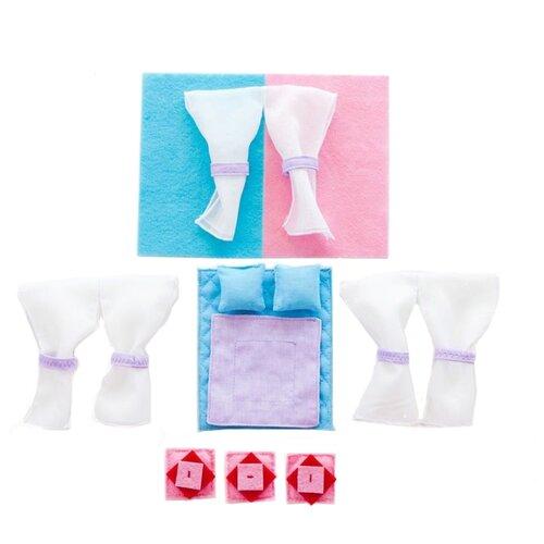 Купить Постельные принадлежности PAREMO для серии закрытых домиков Анастасия PDA115 голубой/ розовый, Аксессуары для кукол