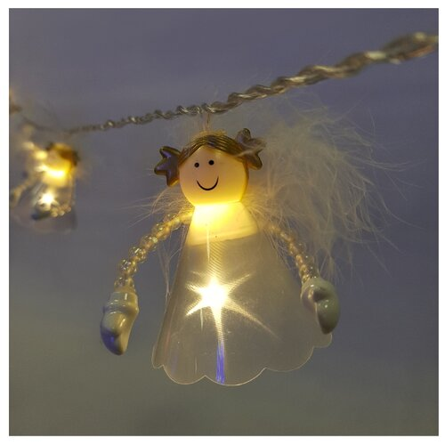 Гирлянда Sh Lights Ангелы, 210 см, ANGLD16-WW, 16 ламп, белый