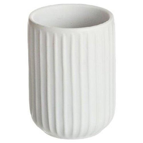 Стакан для зубных щеток D'casa Manhattan белый стакан