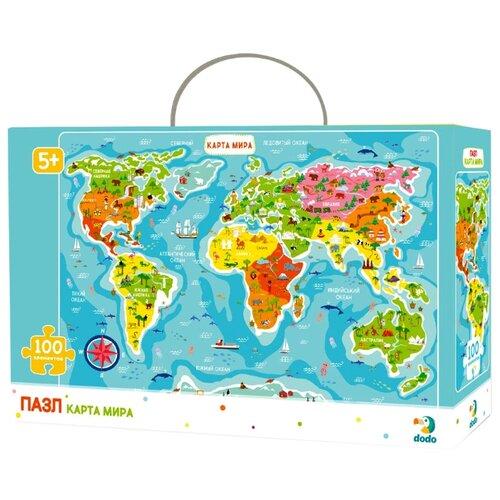 Купить Пазл Dodo Карта мира (R100110), 100 дет., Пазлы