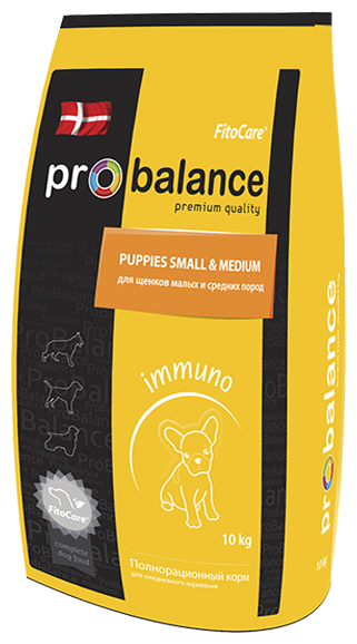 Корм для собак ProBalance (10 кг) Immuno Puppies Small & Medium