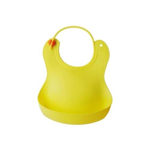 Фото - Крошка Я Нагрудник с карманом силиконовый, 1 шт., расцветка: желтый комфортер крошка я кот василий желтый белый