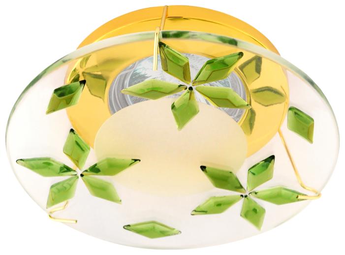 Встраиваемый светильник De Fran FT 856, золото / зеленый