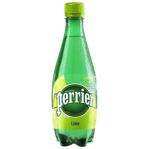 Минеральная вода Perrier газированная, со вкусом лайма, ПЭТ, 0.5 лВода<br>