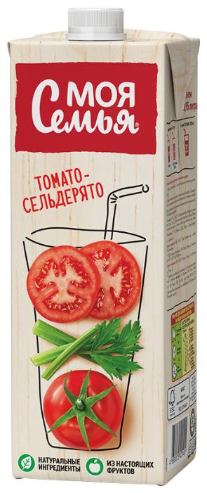 Напиток сокосодержащий Моя Семья Томато-Сельдерято, 0.95 л