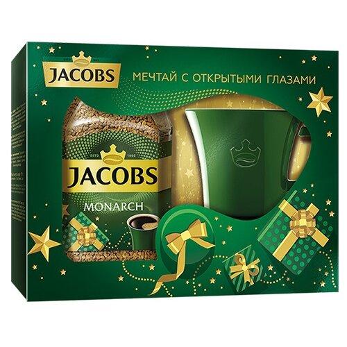 Кофе растворимый Jacobs Monarch подарочный набор с кружкой 95 гРастворимый кофе<br>