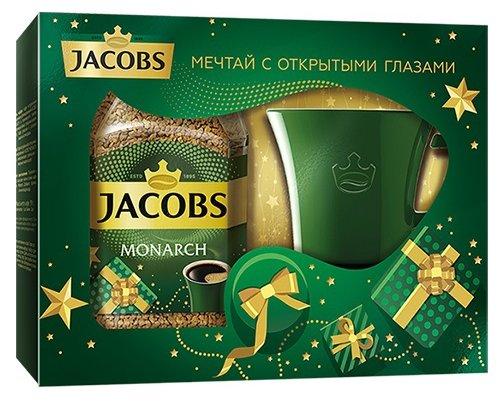 Кофе растворимый Jacobs Monarch подарочный набор с кружкой