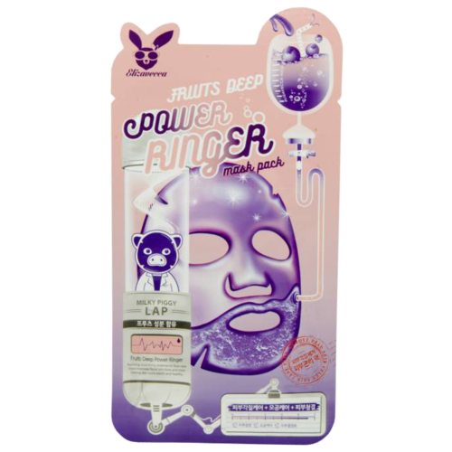 Elizavecca тканевая маска с фруктовыми экстрактами Fruits Deep Power Ringer Mask Pack, 23 мл недорого