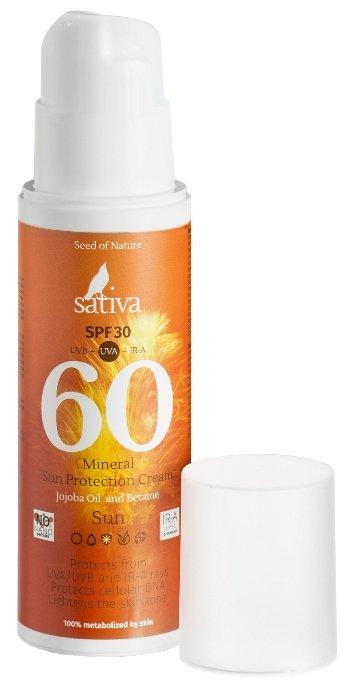 Sativa Крем минеральный солнцезащитный №60 SPF 30