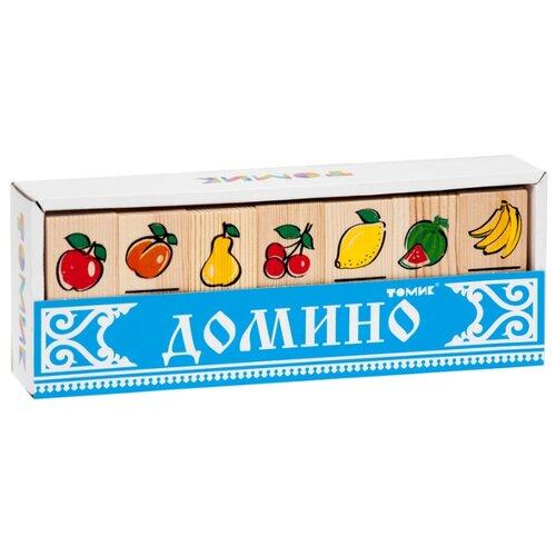 Настольная игра Томик Домино Фрукты-ягоды настольная игра умка домино овощи и фрукты 3 в 1
