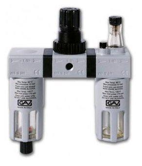 Фильтр/редуктор/лубрикатор GAV G-FRL-180 (13025) 12 атм , 1/4F , 1/4F