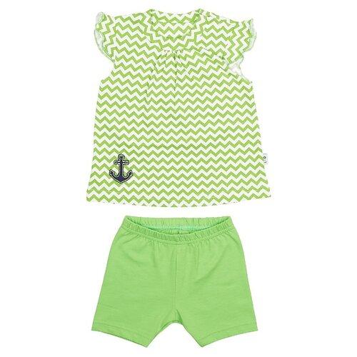 Комплект одежды LEO размер 74, салатовый/синий/зигзаг/якорьКомплекты<br>