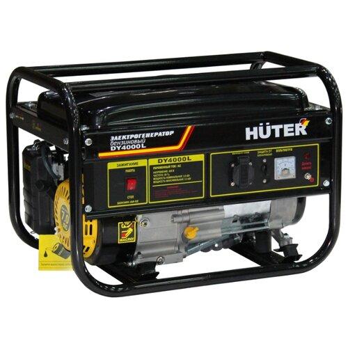Бензиновый генератор Huter DY4000L (3000 Вт) бензиновый генератор huter dy3000l