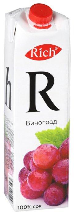Сок Rich виноградный осветленный 100%, 1л