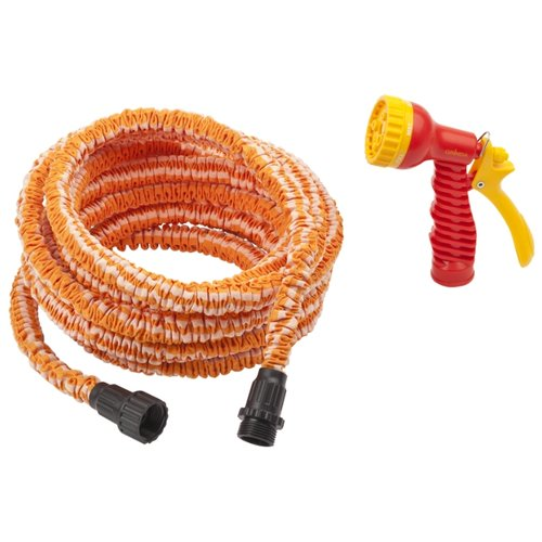 Комплект для полива GRINDA набор поливочный 7.5 - 22 метра оранжевый набор поливочный grinda 3 8 9 5мм 15м с фитингами и пистолетом 428495