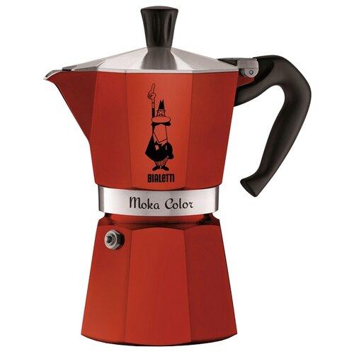 Гейзерная кофеварка Bialetti Moka Express Color (6 порций), красный