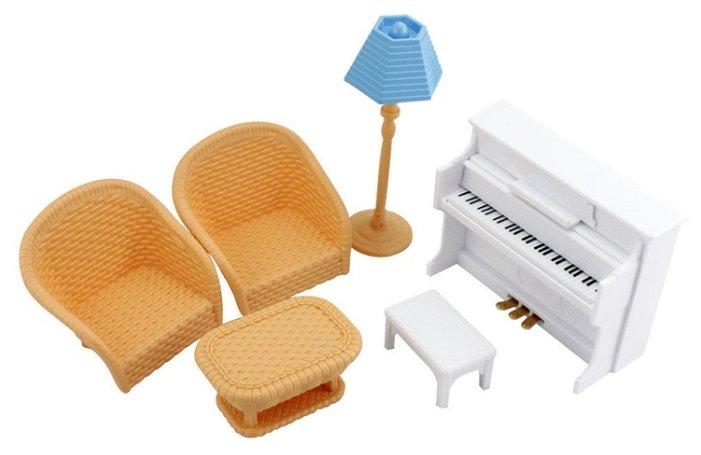 Игровой набор ABtoys Счастливые друзья - Мебель для гостиной PT-00453