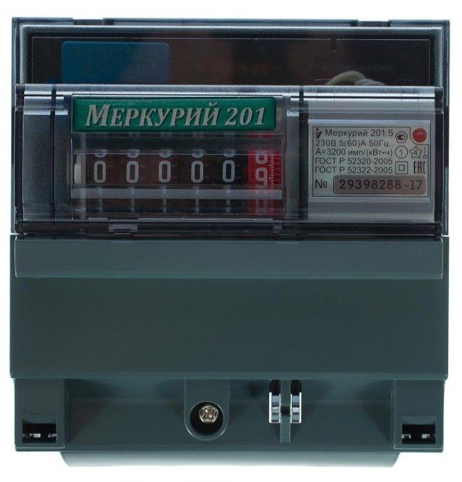 Счетчик электроэнергии однофазный однотарифный INCOTEX Меркурий 201.5 5(60) А