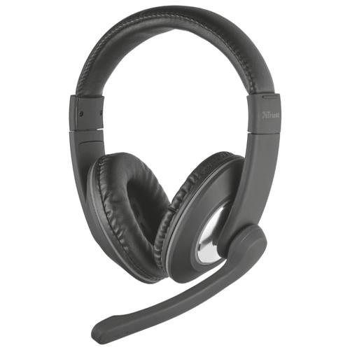 Компьютерная гарнитура Trust Reno Headset for PC and laptop черный гарнитура
