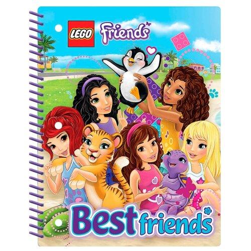 Купить LEGO Тетрадь на спирали Friends 51603 в линейку, 70 л., разноцветный, Тетради