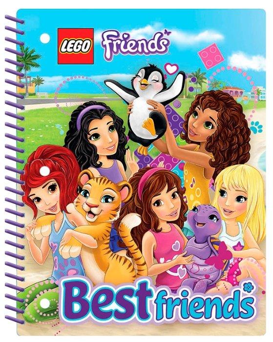 LEGO Тетрадь на спирали Friends 51603, линейка, 70 л.