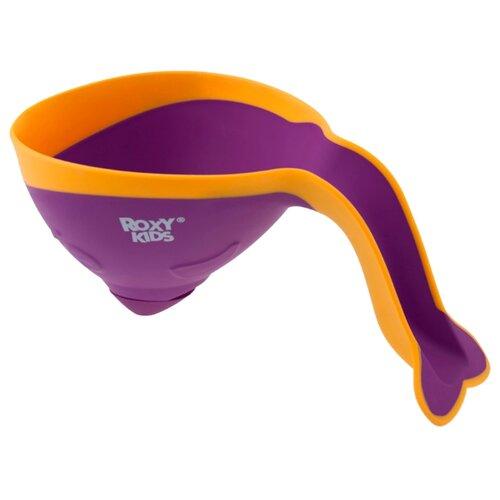 Ковшик для ванны Roxy kids Flipper RBS-004 с лейкой фиолетовый/оранжевый