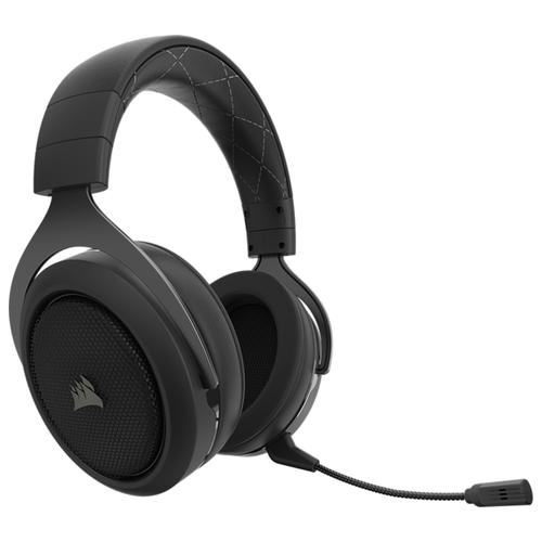 Фото - Компьютерная гарнитура Corsair HS70 Wireless Gaming Headset carbon компьютерная гарнитура corsair hs50 pro stereo gaming headset черный матовый