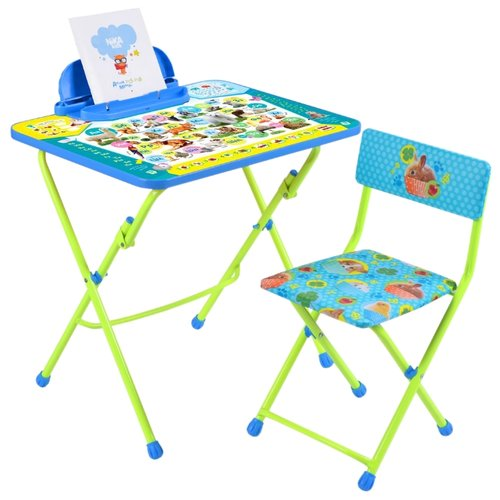 Купить Комплект Nika Пушистая азбука (КУ2/ПА) 45x60 см синий/салатовый, Парты и столы