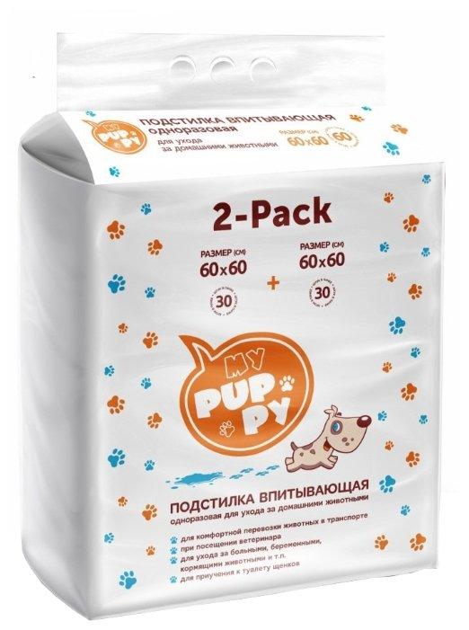 Пеленки для собак впитывающие Медмил My Puppy 60х60 см