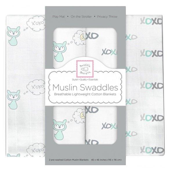 Многоразовые пеленки Swaddle Designs муслин 118х118 набор 2 шт.
