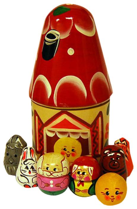 Русская народная игрушка Пальчиковый театр в домике Колобок (Р-45/775) — купить по выгодной цене на Яндекс.Маркете