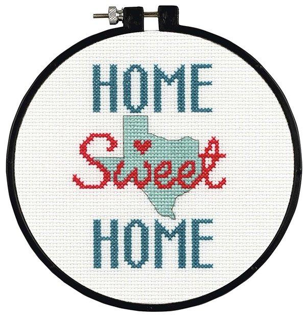 Dimensions Набор для вышивания крестиком Дом, милый дом, диаметр 15 см (74820)
