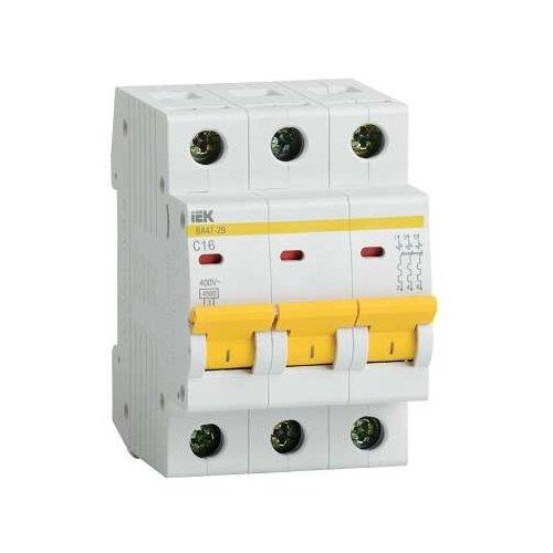 Автоматический выключатель IEK ВА 47-29 3P (C) 4,5kA 6 ААвтоматические выключатели<br>