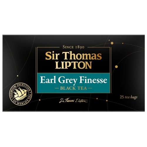 Чай черный Sir Thomas Lipton Earl Grey Finesse в пакетиках, 25 шт. twinings earl grey tea черный ароматизированный чай в пакетиках 25 шт