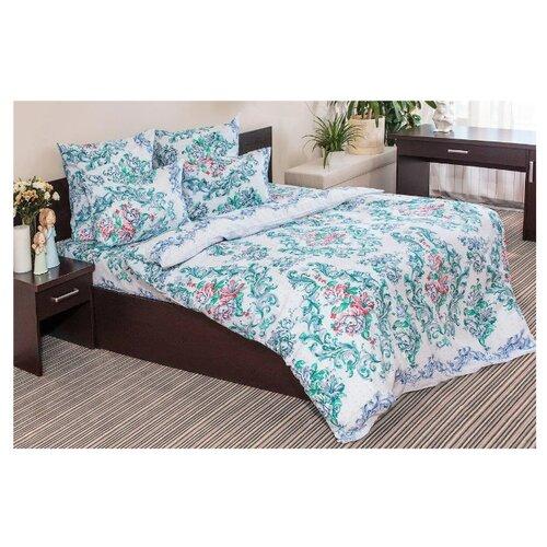 Постельное белье 2-спальное с евро простыней Ночь Нежна Нежная роза 70 х 70 см бязь голубой фото