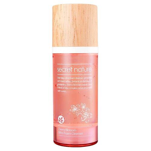 Secret Nature гидрофильное масло-пенка для умывания с экстрактом вишни, 100 мл японское гидрофильное масло для умывания