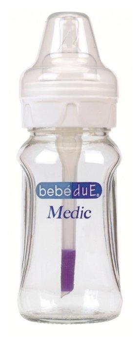 Bebe Due Бутылочка полипропиленовая с антиколиковой системой и термодатчиком Medic, 260 мл с 3 мес.