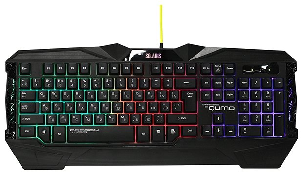 Клавиатура и мышь Qumo Solaris Black USB