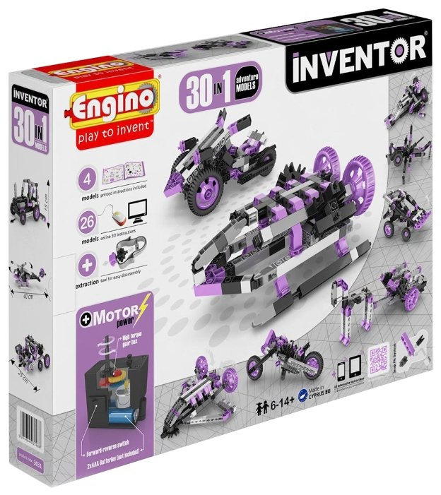 Электромеханический конструктор ENGINO Inventor Motorized 3031-30