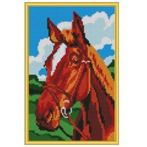 Рыжий кот Набор алмазной вышивки Красивая лошадь (AC22035) 32х22 см зартайская и в кот и лошадь круглый год