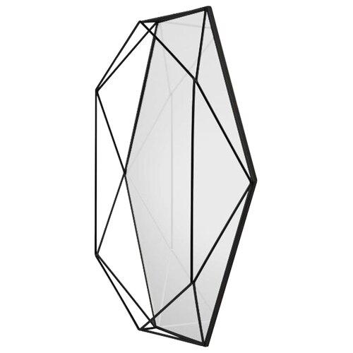 Зеркало Umbra Prisma 43х56.8 черный в раме зеркало umbra prisma 56х43 в раме