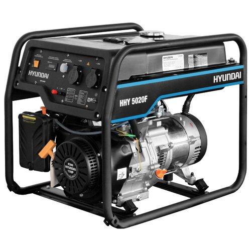 Бензиновый генератор Hyundai HHY 5020F (4000 Вт) бензиновый генератор hyundai hhy 5020fe 230 в 4 5квт