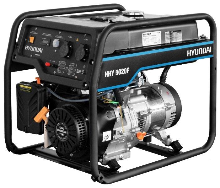 Бензиновый генератор Hyundai HHY 5020F (4000 Вт)
